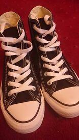 Converse Hi Tops - size 3.5 (worn twice)
