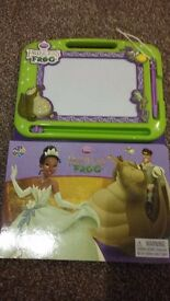 Princess and the frog storybook with scribble pad