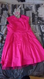 Hot Pink Party Dress UK Size 20