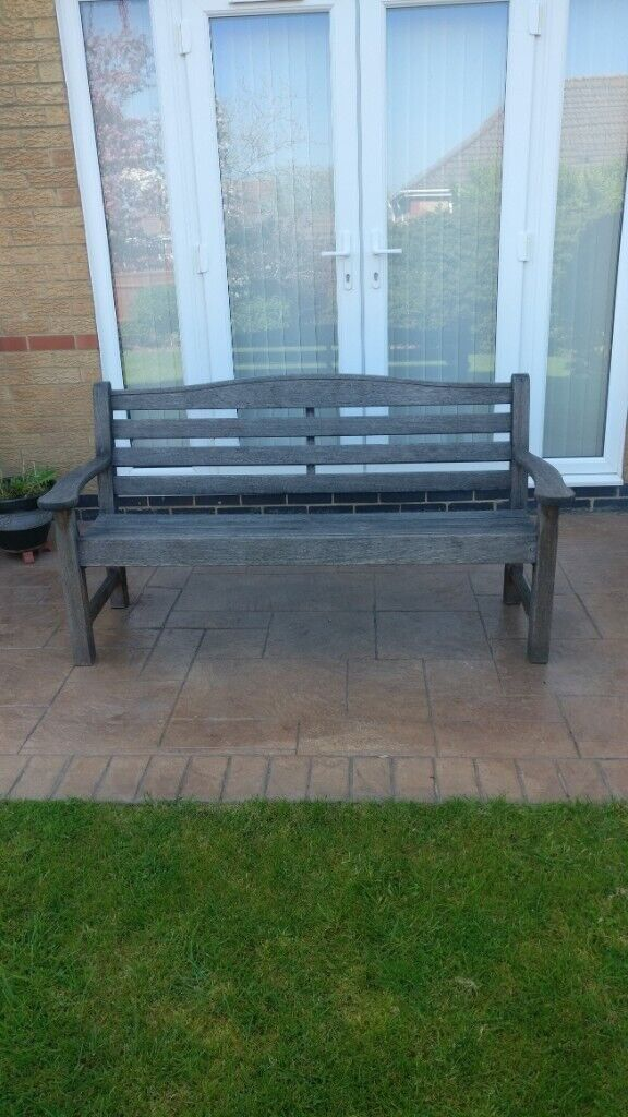 Awesome Hardwood 3 Seater Garden Bench In Yate Bristol Gumtree Ibusinesslaw Wood Chair Design Ideas Ibusinesslaworg