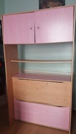 Pink Storage Unit - 3 Compartments