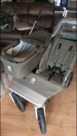 Easywalker Duo Double Buggy Olive Green