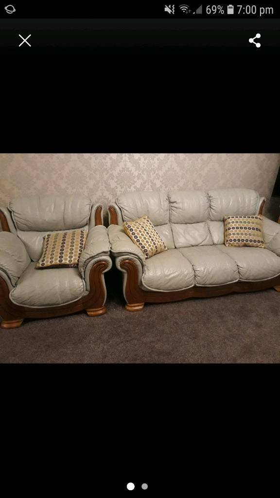 DFS Mint Green Leather Sofas And Armchairs | in Coventry ...