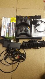 Xbox 360 with 8 games and kinnect