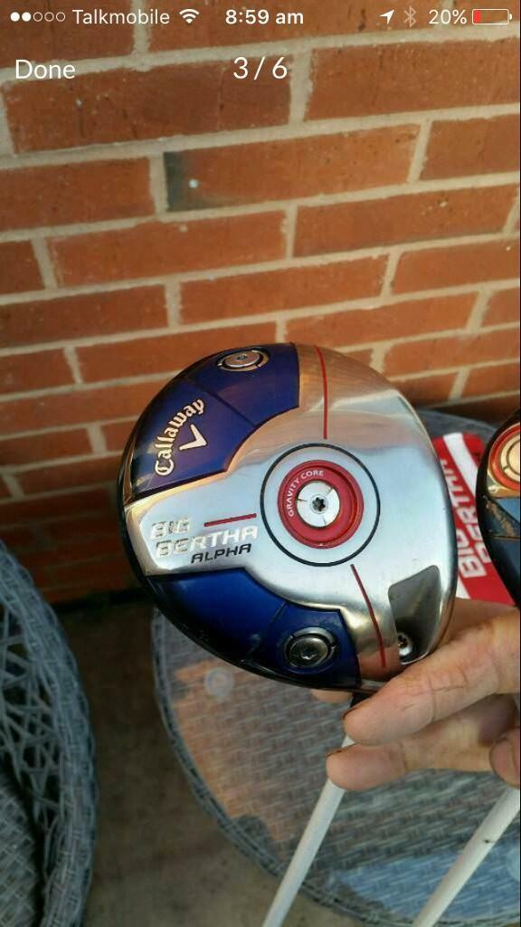 Callaway alpha driver stiff shaft