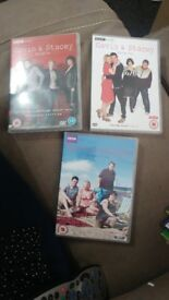 GAVIN & STACEY DVD SERIES ONE TWO AND THREE PET & SMOKE FREE HOME