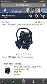 Maxi cosi car seat group 0+ and easyfix base