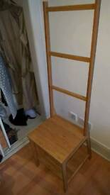 Wooden bathrooms chair/towel rail