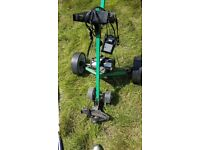 Hillbilly compact electric golf trolley with battery and charger