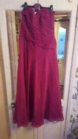 Purple brides maids dress size 12