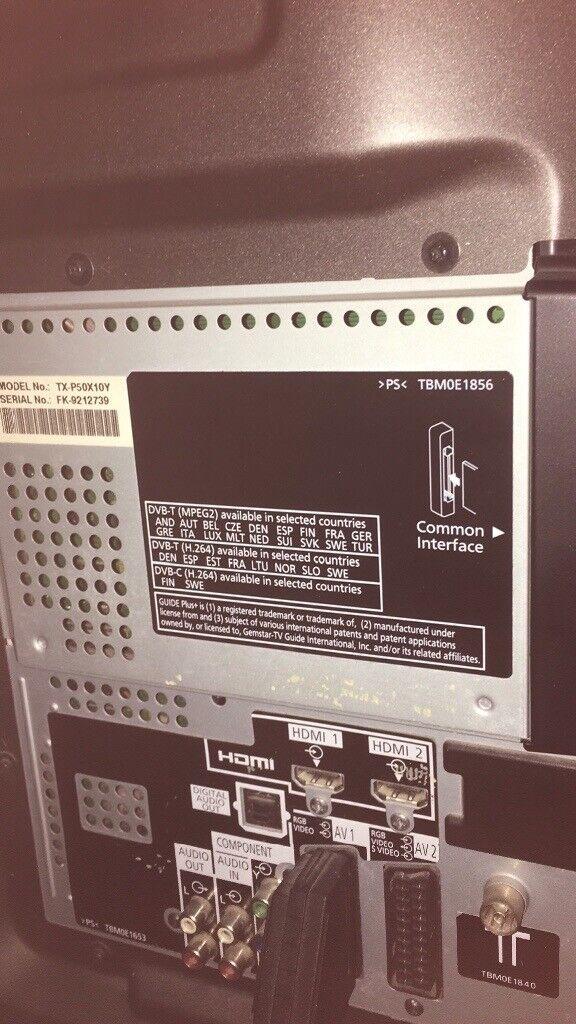 Panasonic tv 50