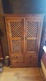 John lewis Maharani Dining table and chairs, cabinet and CD rack