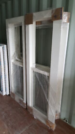 Solid Wood Sash Box double glassed 3pc. bay windows (lead included)