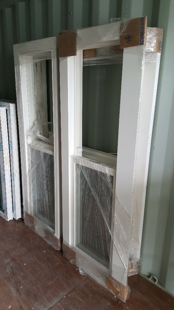 Wooden Sash Box double glassed 3pc. bay windows (lead included)