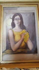 Great Grand Large Painting with a Richly Frame