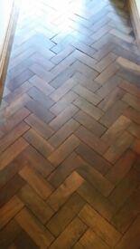 Mahogany woodblock parquet flooring
