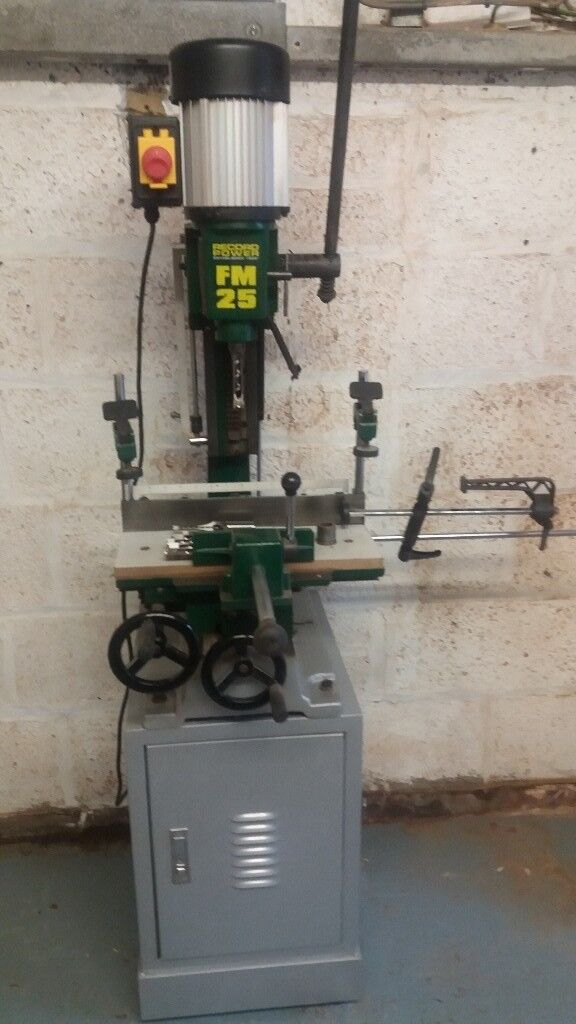 """Record Morticer FM 25 Floor standing 1"""" Morticer with Sliding Table"""