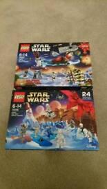 2x Star Wars Lego Calendars (75097 & 75146)