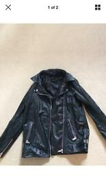 Zara faux leather jacket