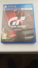 Gran turismo sport for ps4 in excellent condition