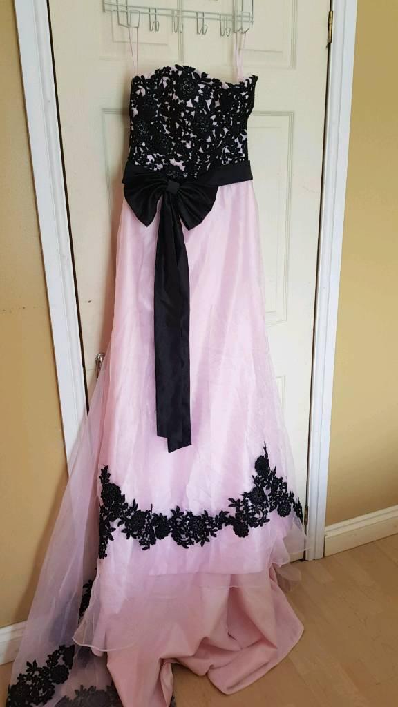 Pink & black wedding dress Size 14 | in Southampton, Hampshire | Gumtree