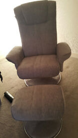 Swivel/Recliner Chair+footstool
