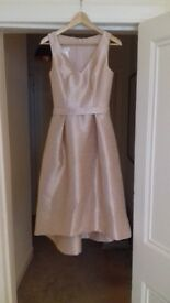 Blush pink Alfred Sung bridesmaid dress uk size 8 worn once