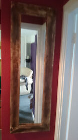 large shabby chic/rustic bress mirror