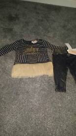 Baby girls juicy couture 2 piece set bnwt 12months