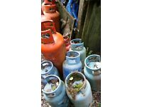 Empty Gas Bottles various sizes