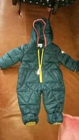 Nearly new Baby Boys Ted Baker snow suit 0-3months