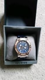 Genuine Guess Rose Gold Denim Watch