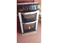 gas cooker 50cm double oven,latest in shops,cost £549 in currys pc world,used a few times as new.