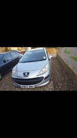 Peugeot 207 petrol silver 2007 plate