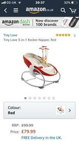 Tiny love 3-1 rocker napper red