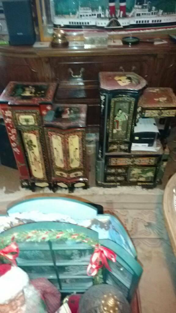 Two antique chinese cabinets