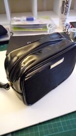 Giorgio Armani Black DESIGNER Make up Bag Cosmetics Vanity Case - Gift Boxed
