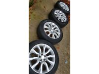 """4x 20"""" Range Rover alloy wheels (5x120) 255/55R20 tyres Land Rover Discovery"""