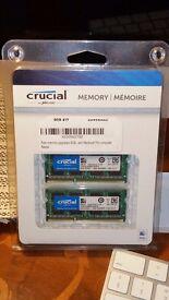 Crucial CT2K8G3S160BM (16 GB, PC3-12800 (DDR3-1600), DDR3 RAM, 1600 MHz, SO DIMM