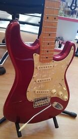 Red Electric Guitar & Amp & Accessories