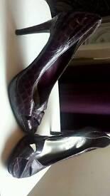 Deep purple heels from newlook