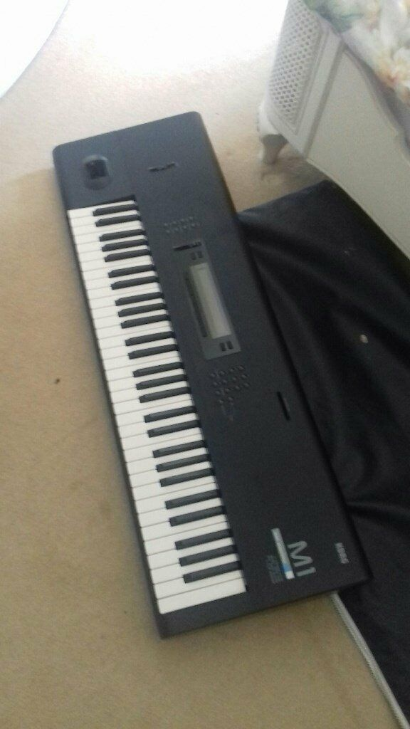 Korg M1, case, manual and sound cards | in Hastings, East Sussex | Gumtree
