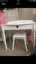 GLTC vanity desk and stool