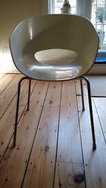 Cream contemporary Italian dining / living room / desk chairs