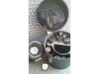 BRAND NEW! The O Pod Ultimate Styling Set from CLOUD NINE. Induction heated Roller Set. Leather case