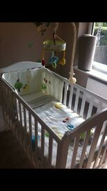 White Darlington cot Mothercare