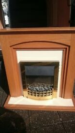 LOVELY ELECTRIC FIRE WITH FULL SURROUND