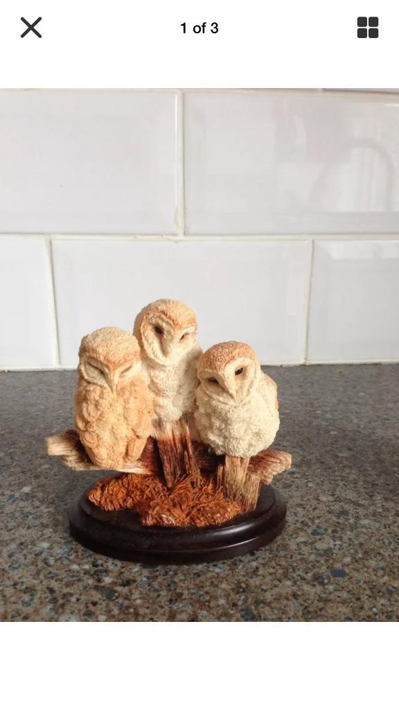 Owls Figurine By Country Artists