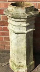 2 ornamental chimney pots