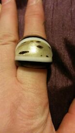 ladies glass ring